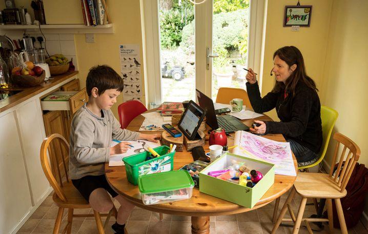 Homeschooling in Mardsen, Nordengland.