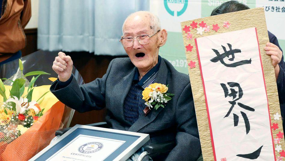 Chitetsu Watanabe ist mit 112 Jahren der älteste Mensch der Welt