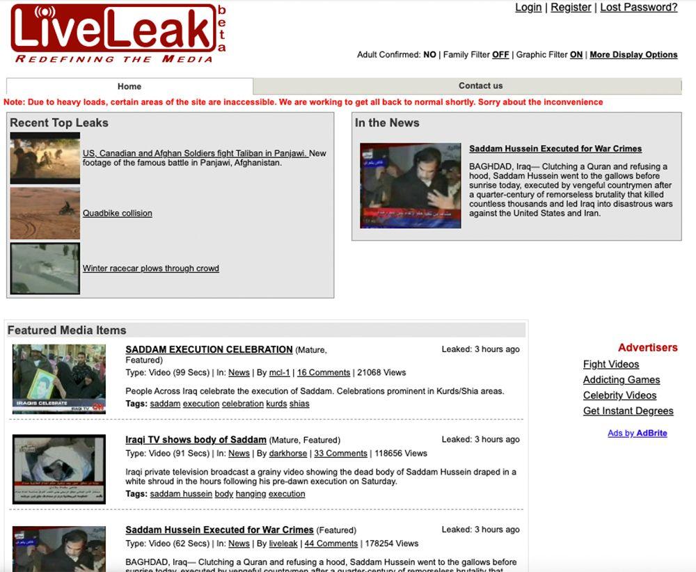 LiveLeak Screenshot