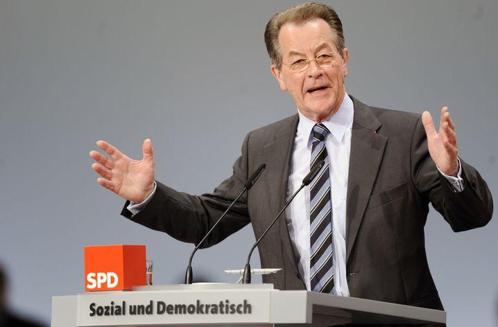 SPD-Chef Müntefering: Scharfe Kritik am Bürger