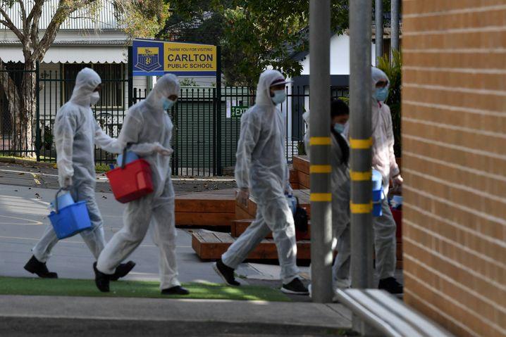 Der Corona-Lockdown in Sydney wurde bis Ende September verlängert