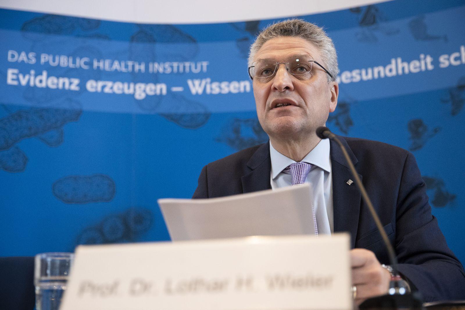 Robert Koch Institute Holds Daily Coronavirus Update Press Conference