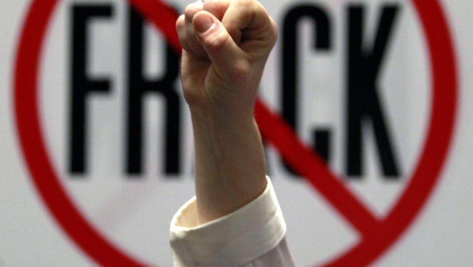 US-Protest gegen Fracking: Die neue Gasfördertechnik hat weltweit viele Feinde