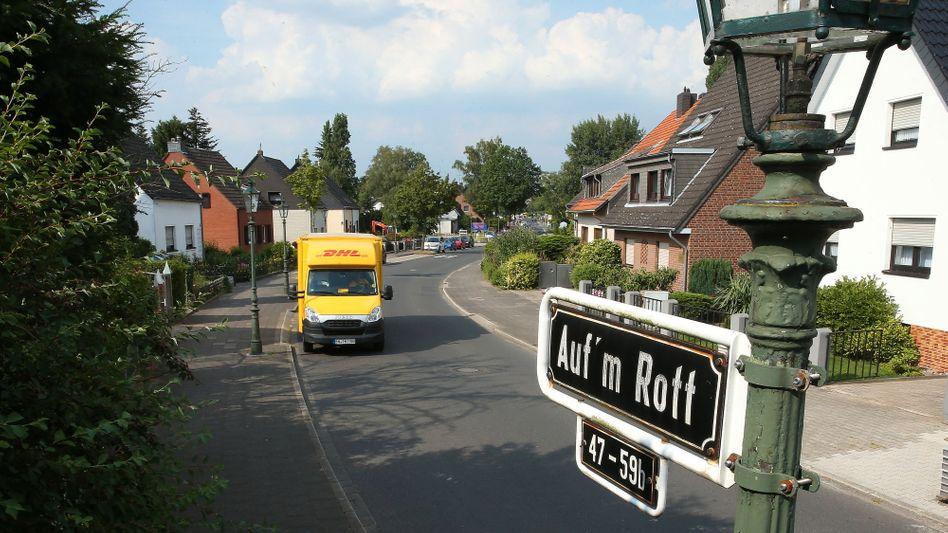 """Straße """"Auf'm Rott"""" in Düsseldorf"""