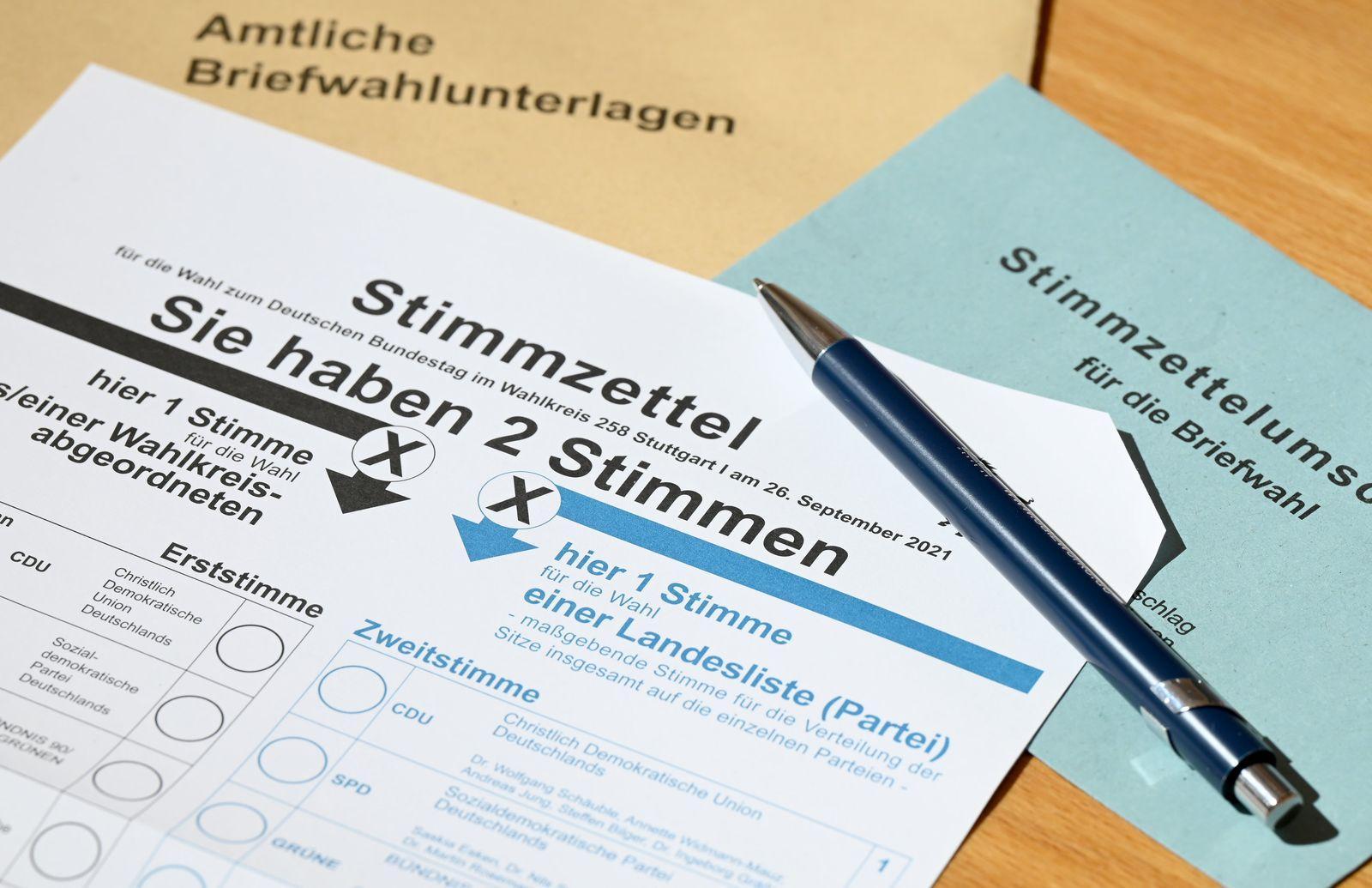 Bundestagswahl - Stimmzettel Briefwahl