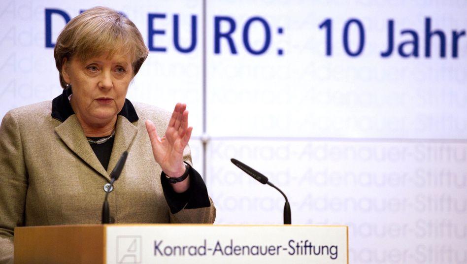 """Bundeskanzlerin Merkel: """"Daran arbeiten wir"""""""