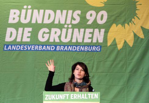 Baerbock als Grünenchefin von Brandenburg, im November 2013