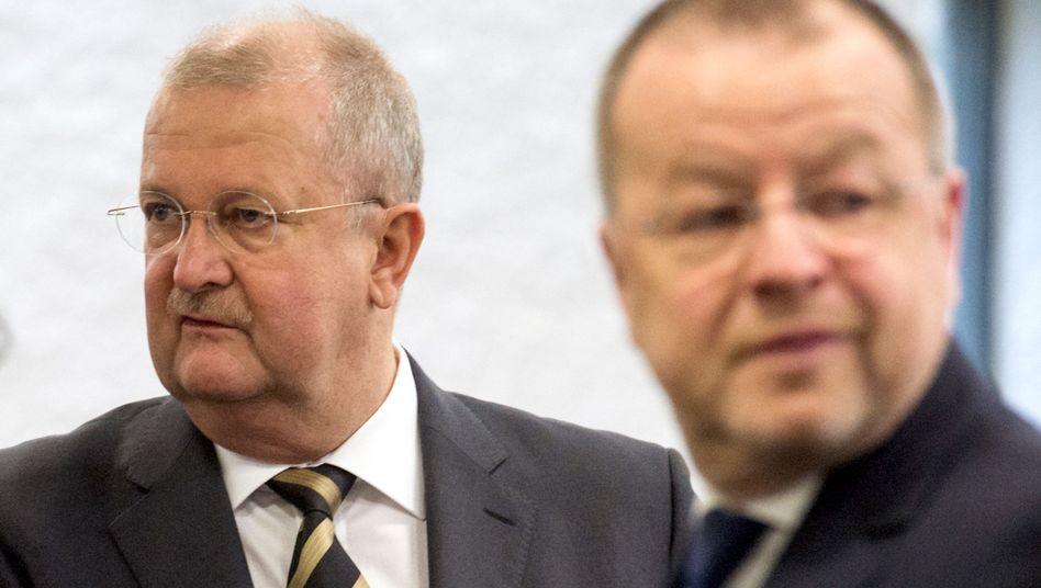 Ex-Porsche-Manager Wiedeking (l), Härter: Distanz zu Piëch