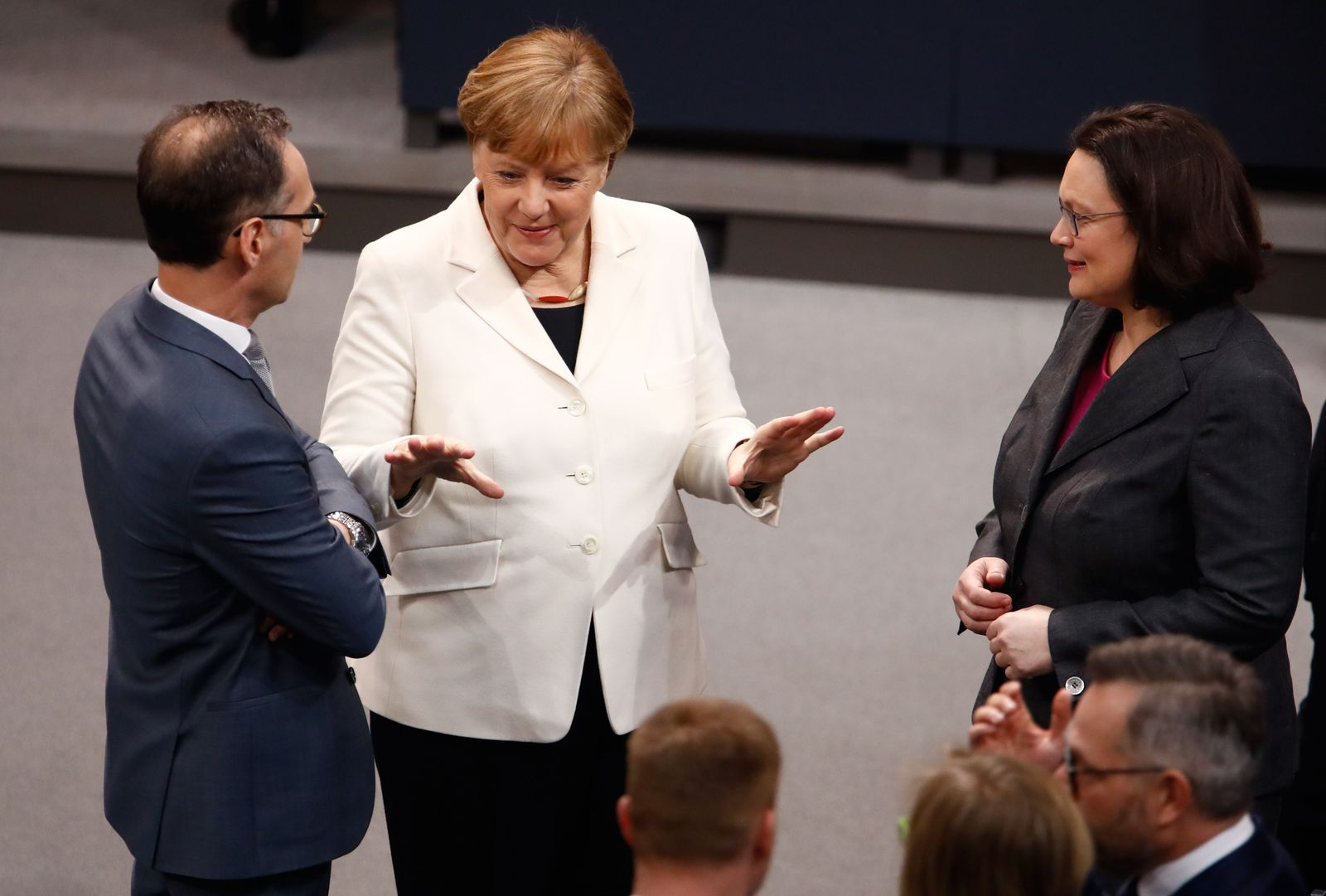 Merkel, Nahles