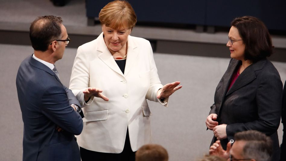 Heiko Maas, Angela Merkel, Andrea Nahles