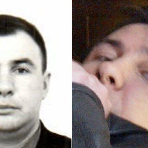 """Laut Bildanalyse der Universität Bradford nicht dieselbe Person: Vladimir Andreewitsch Stepanov (links und Mitte) und der angebliche """"Sokolov"""" (rechts)"""