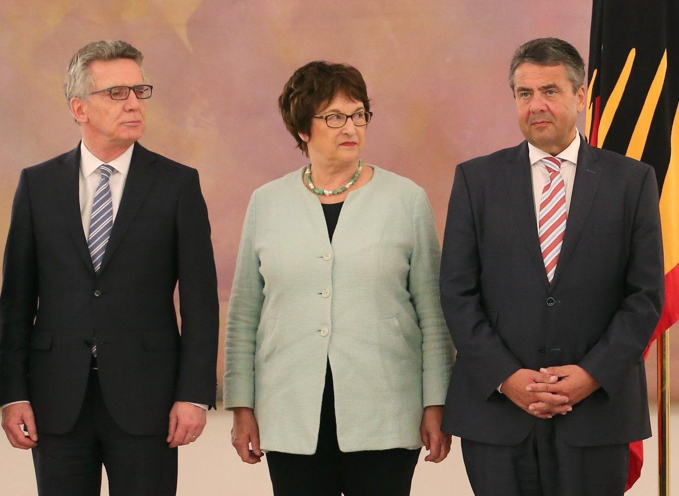 Thomas de Maiziere, Brigitte Zypries, Sigmar Gabriel