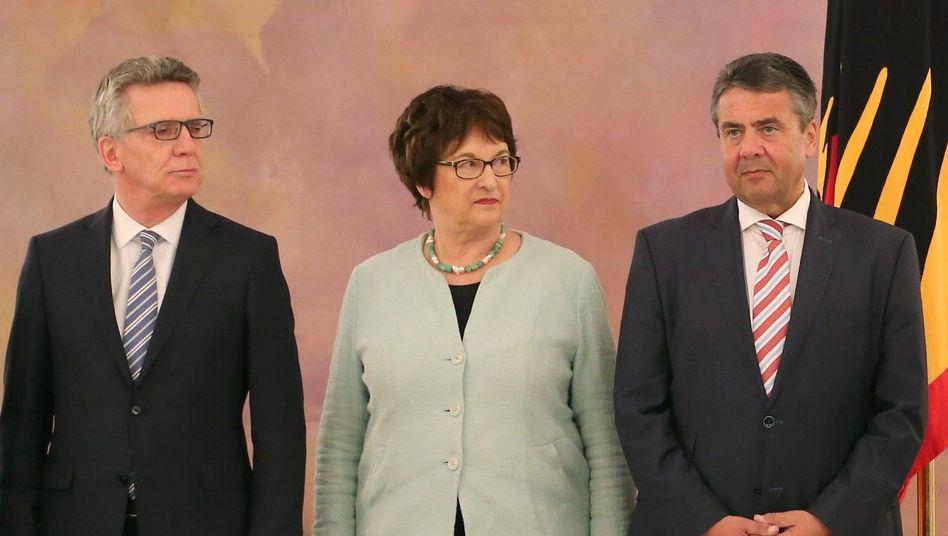 Thomas de Maizière, Brigitte Zypries, Sigmar Gabriel