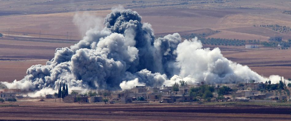 Angriff auf IS-Kämpfer nahe Kobane: Koordinaten werden durchgegeben