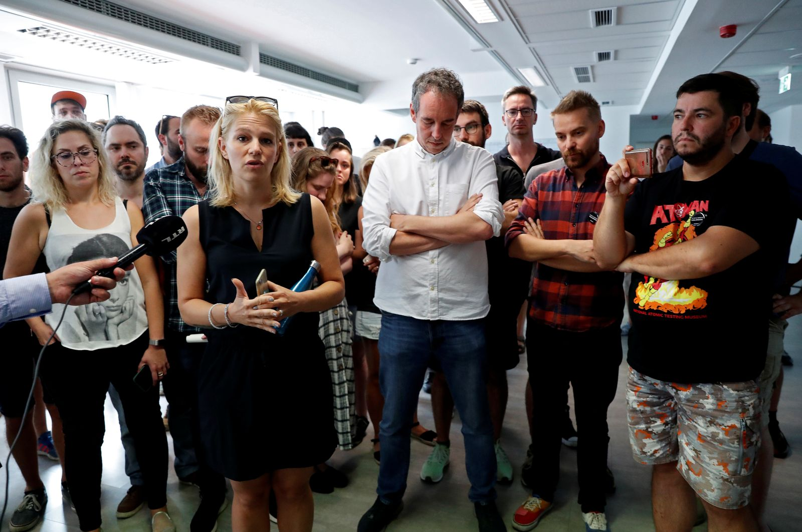 """Employees of Hungary's main independent news website """"Index"""" quit in Budapest"""