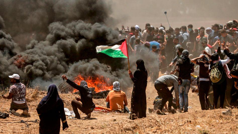 Proteste an der Grenze zum Gazastreifen