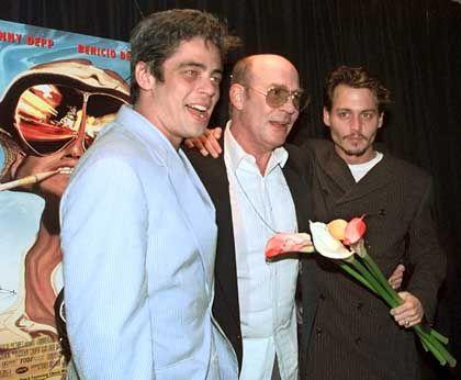 Thompson mit Schauspielern Depp und Del Toro (1998): Angst und Schrecken in Las Vegas