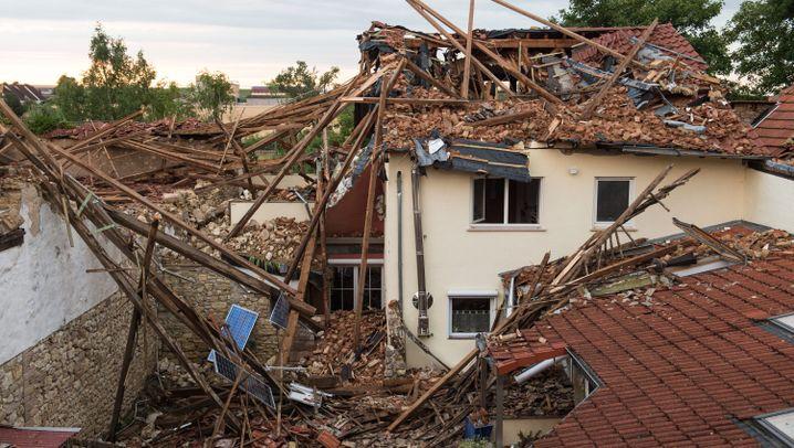 Sturm in Rheinland-Pfalz: Verwüstung in Framersheim