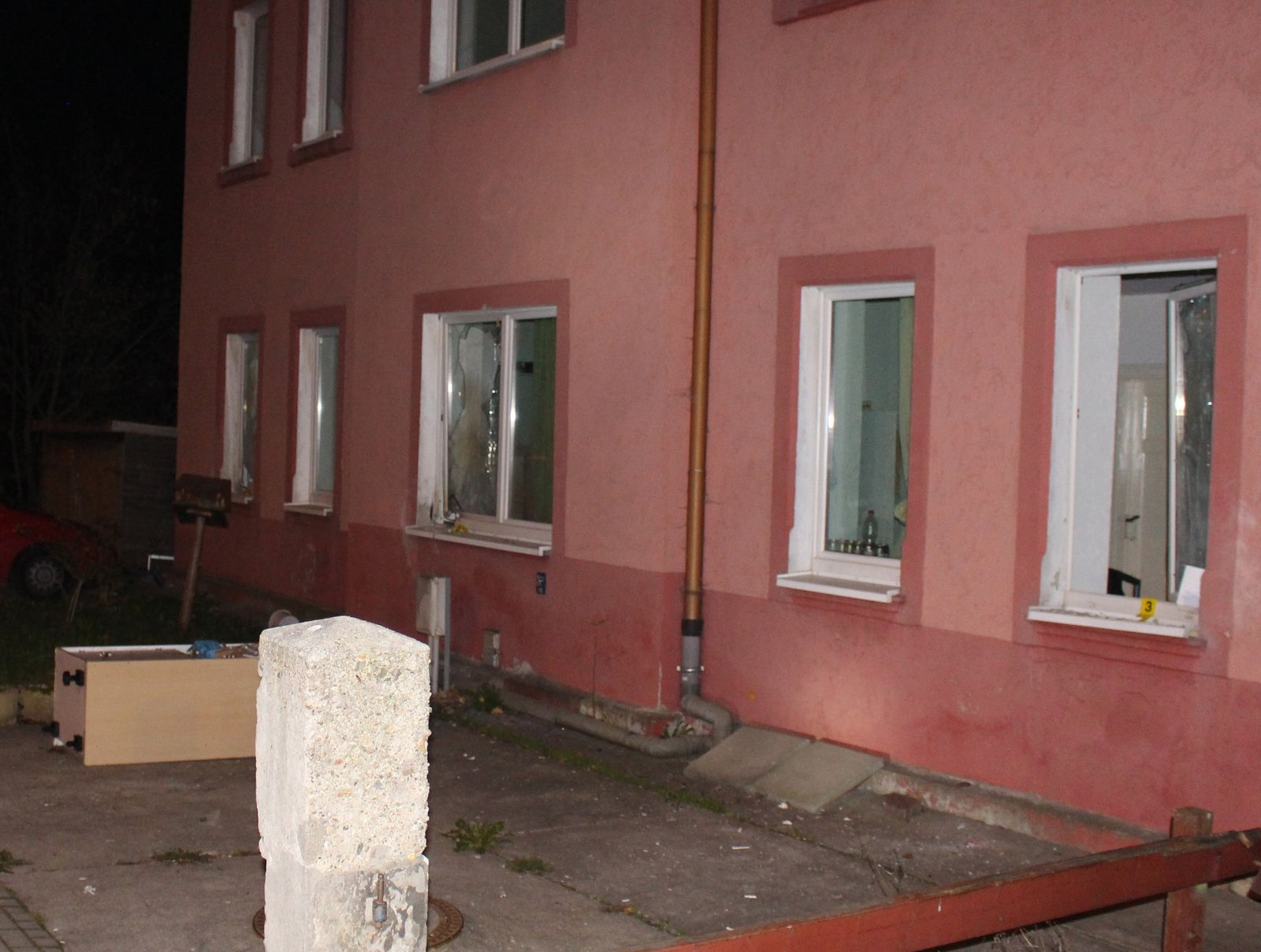 Anschlag auf Flüchtlingsunterkunft in Sachsen