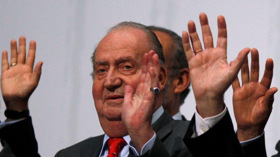 Juan Carlos im Jahr 2012: Mutmaßliche Schmiergeldzahlungen beim Bau einer Schnellbahnstrecke