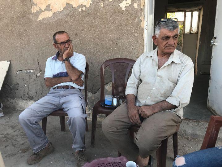 """Georges Haido (l.): """"Wir werden nicht vor den Türken fliehen! Nicht noch einmal"""""""