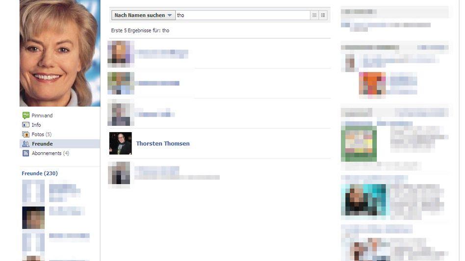 Bis Donnerstagnachmittag noch Steinbachs Facebook-Freund: NPD-Mann Thomsen