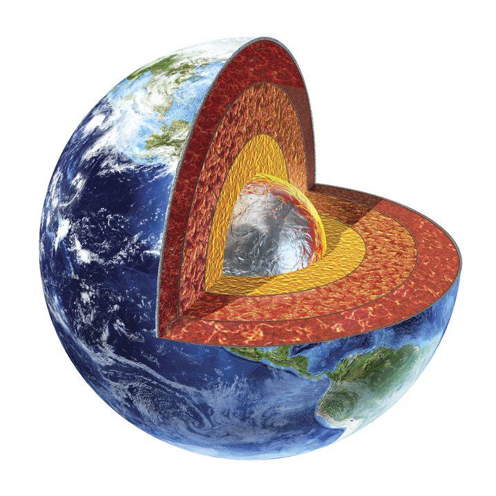 Aufbau der Erde: Hohe Dichte nahe des Kerns