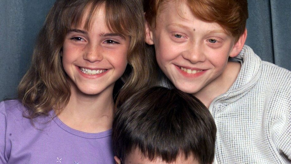 Jungdarsteller Emma Watson, Rupert Grint und Daniel Radcliffe