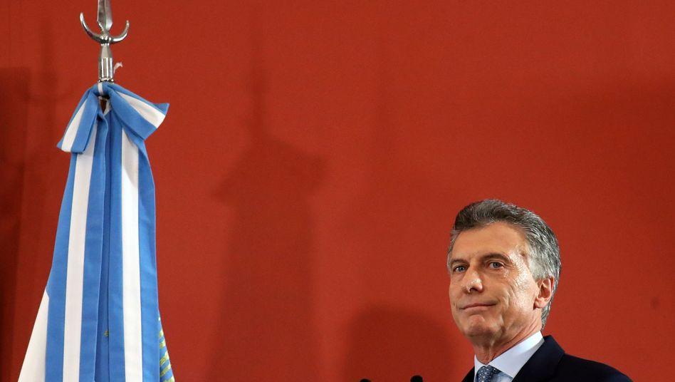 """""""Uns allen ans Portemonnaie gegangen"""": Präsident Mauricio Macri"""