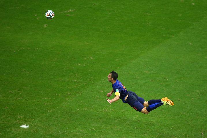 Robin van Persies Tor gegen Spanien