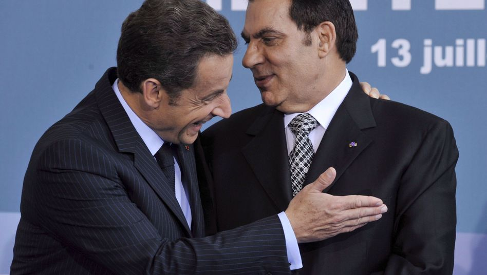 """French President Nicolas Sarkozy in a 2008 meeting with former Tunisian President Zine El Abidine Ben Ali: """"There was despair, a suffering, a sense of suffocation. We have to recognize that we underestimated this."""""""