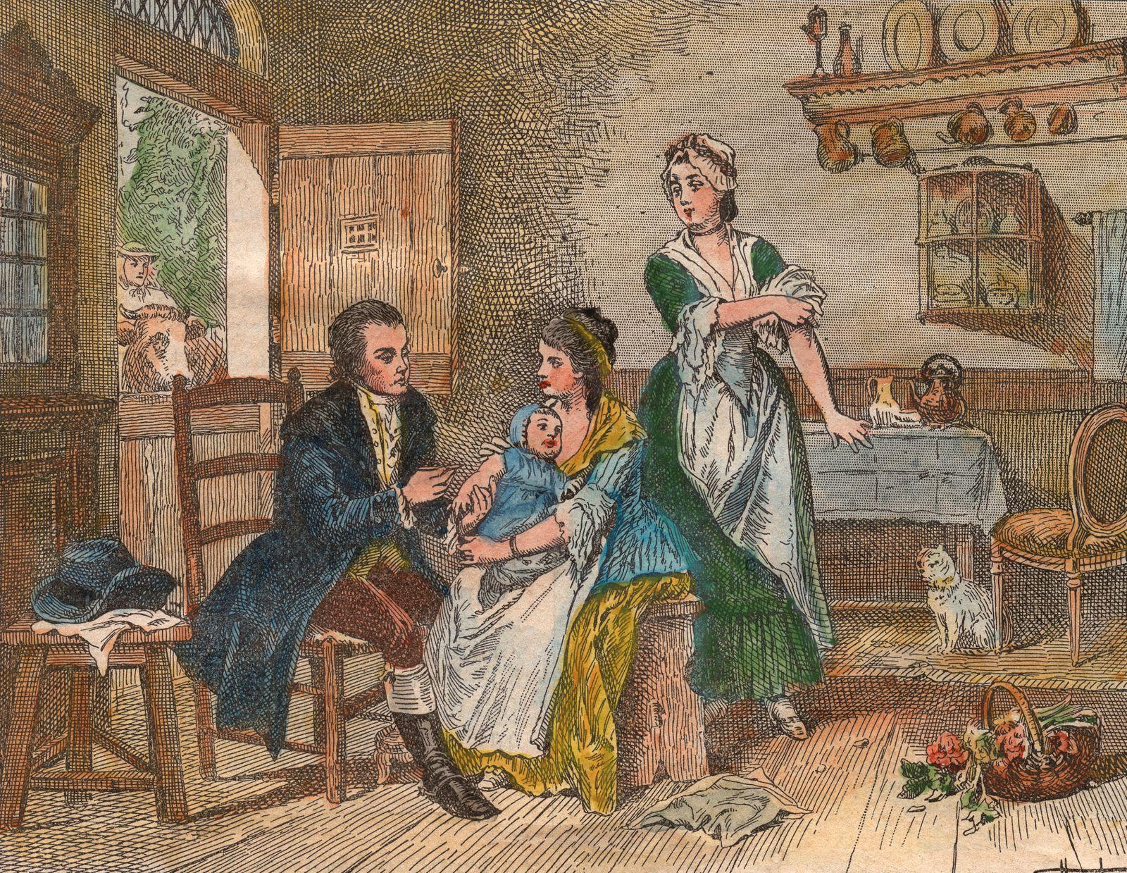 Edward Jenner Inoculates James Phipps
