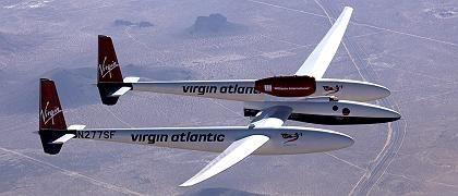 Trägerflugzeug für das Spaceshipone von Virgin Galactic: Auch die EADS verspricht sich viel vom Weltraumtourismus