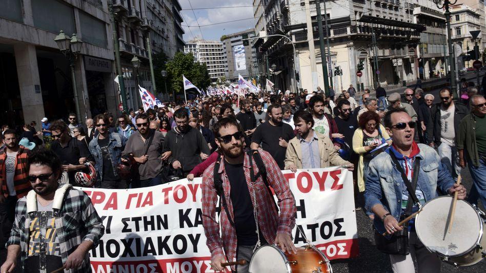 Proteste in Athen (Archivaufnahme): Fünf Jahre Eurokrise