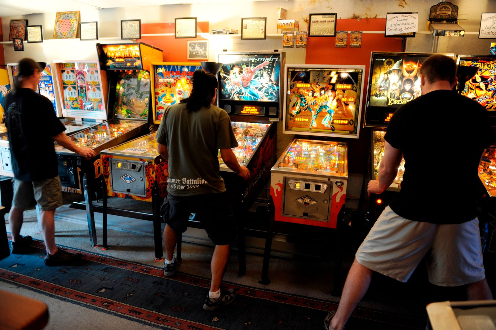 League play is 20 pinballers in Lyons at Lyons Classic Pinball on Friday. Hyoung Chang/ The Denver Post