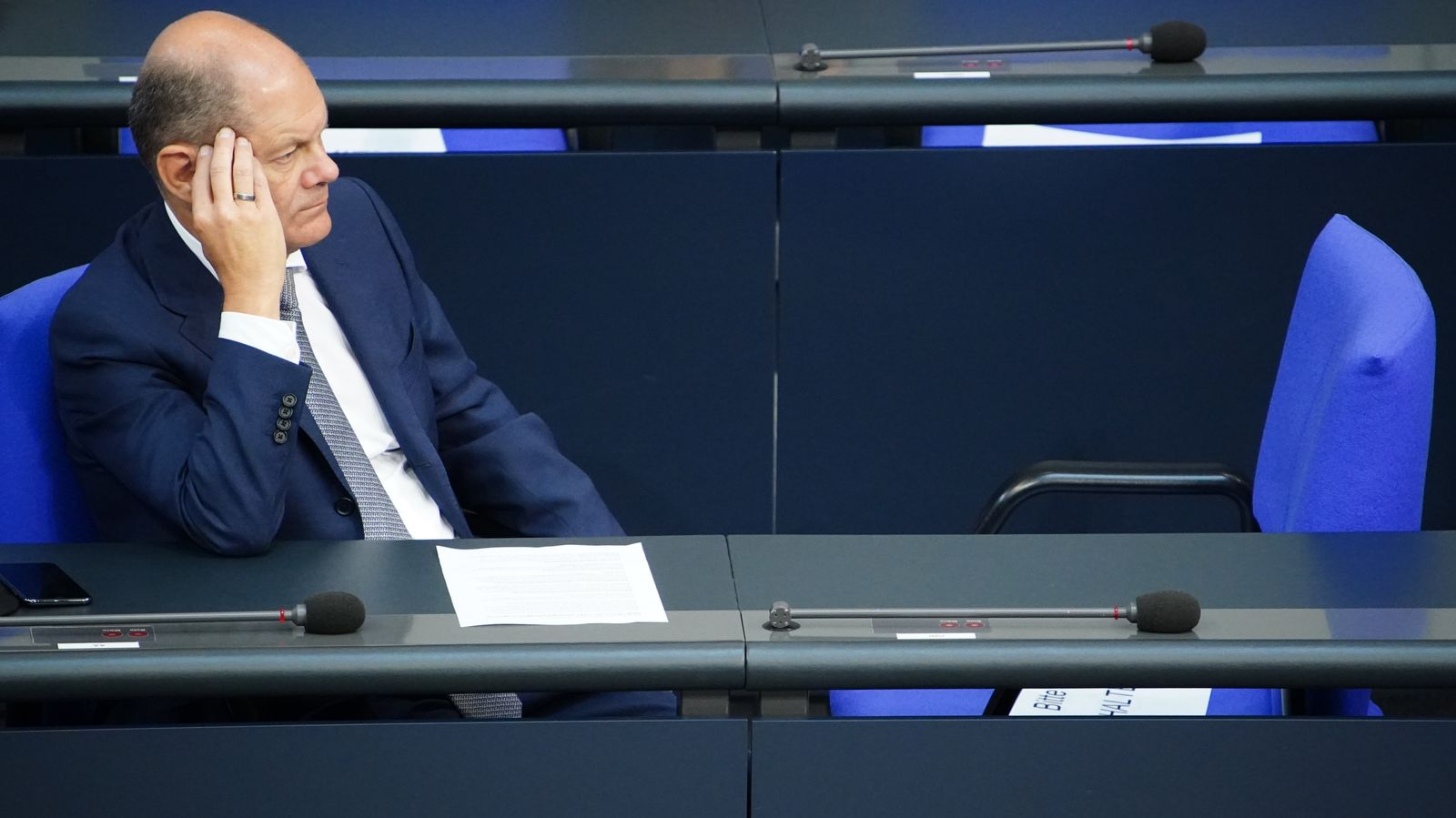 German Minister of Finance Scholz on Cum Ex transactions of German Warburg Bank, Berlin, Germany - 09 Sep 2020