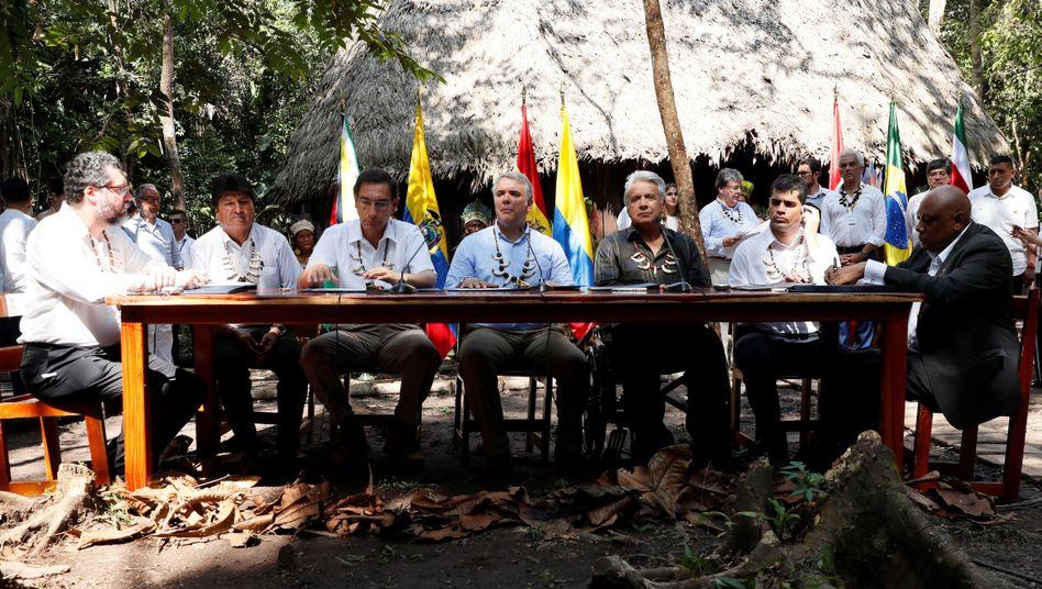 """Teilnehmer des Amazonas-Gipfels im kolumbianischen Leticia: """"Ein Schatz, den wir alle gemeinsam hüten müssen"""""""