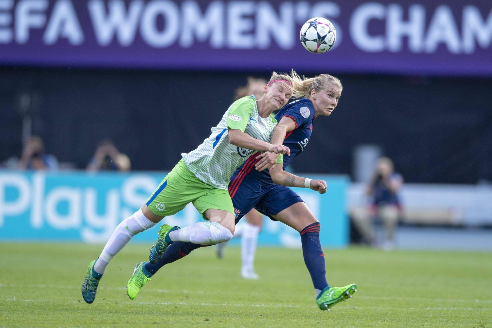 EINMALIGE VERWENDUNG Ada Hegerberg Lyon/ Alexandra Popp Wolfsburg/ Frauen Fußball