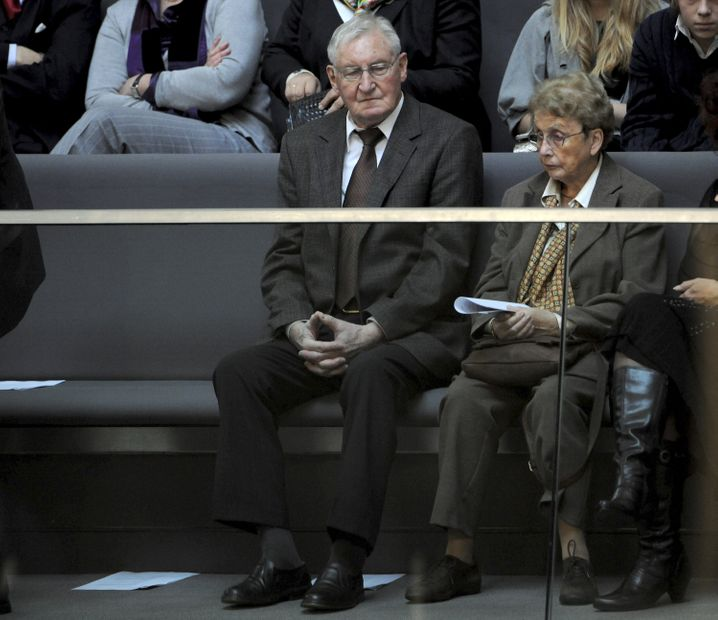 Die Eltern von Angela Merkel, Herlind und Horst Kasner (2009 im Bundestag)