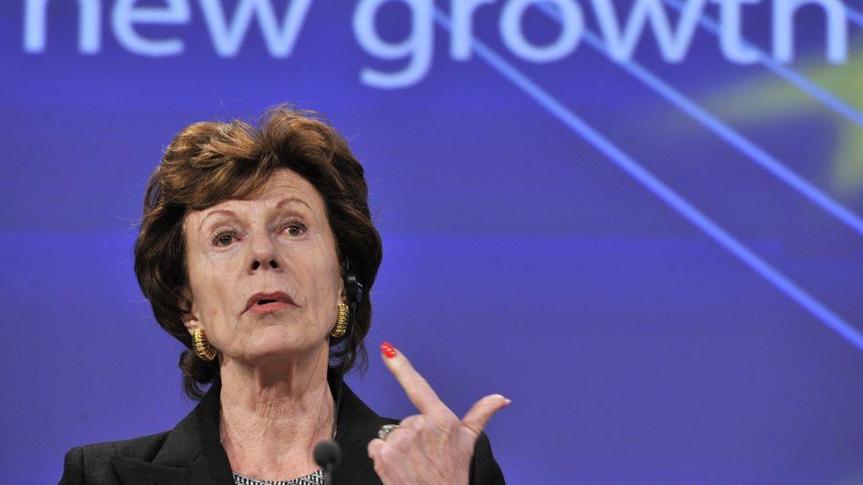 Neelie Kroes (Archivbild): Leiser Abschied von Acta?