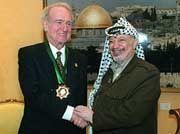 Bundespräsident Rau traf Palästinenserpräsident Arafat in Betlehem