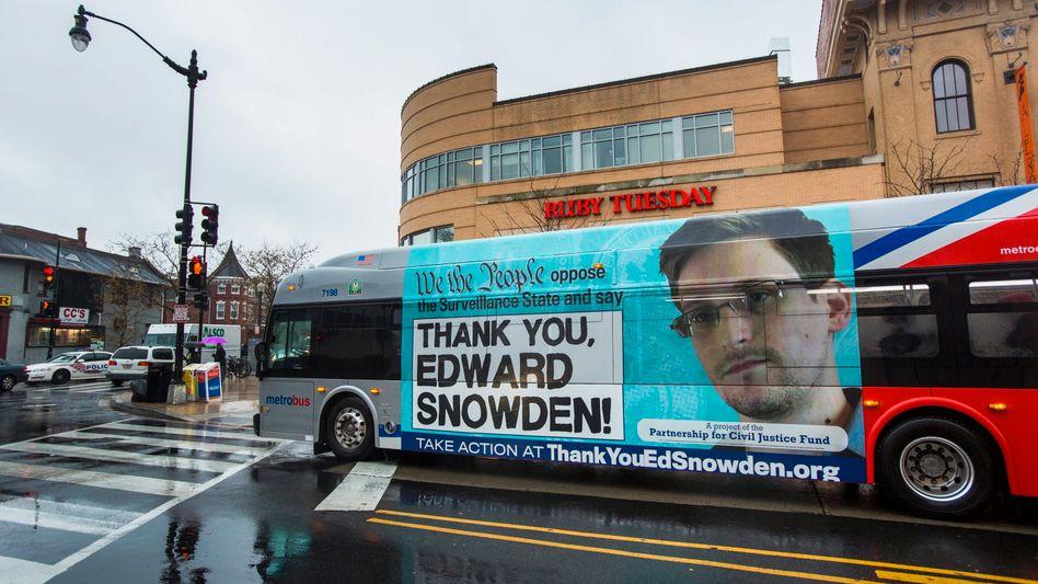 """Snowden-Werbung in Washington: """"Wir müssen unsere Gesetze stärken"""""""