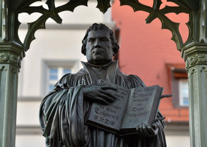 Martin-Luther-Denkmal in Wittenberg