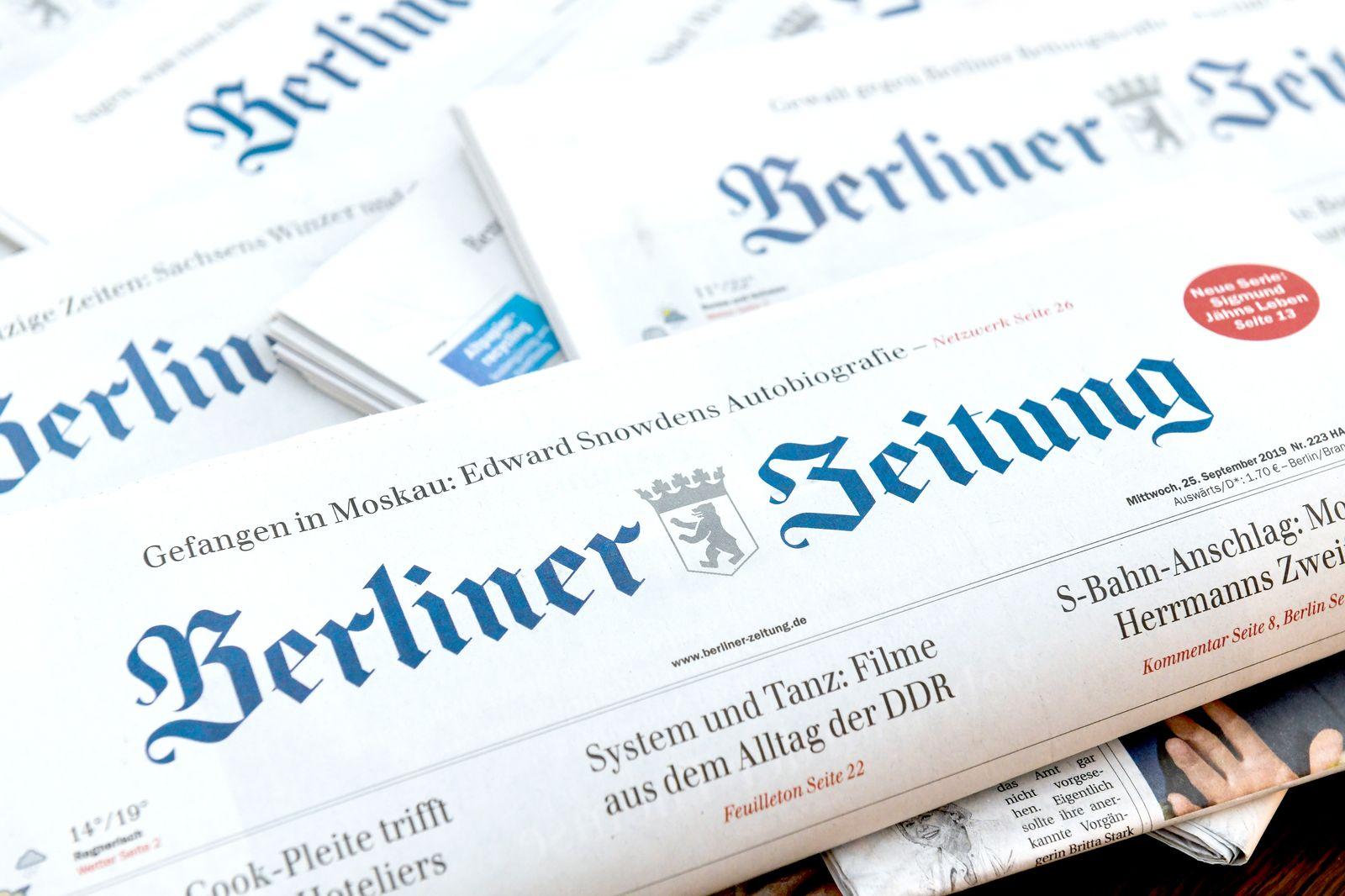 EINMALIGE VERWENDUNG Berliner Zeitung