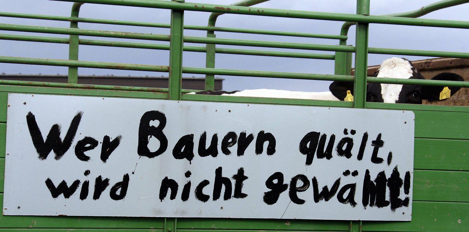 NICHT VERWENDEN Milchbauer Proteste