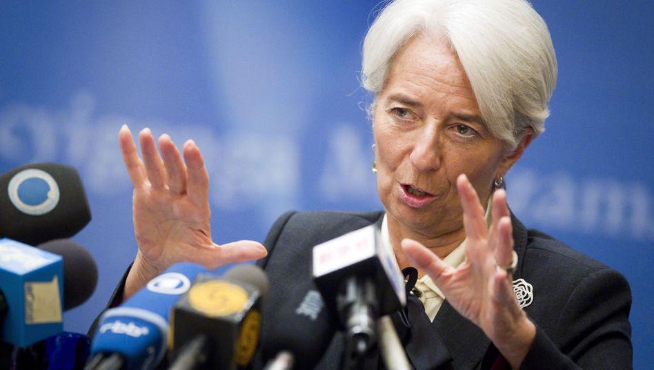 IWF-Chefin Lagarde: Entschlossenes Auftreten