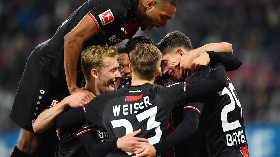 Bayer Leverkusen hatte allen Grund zu jubeln