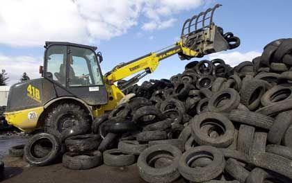 Recycling-Anlage für Altreifen: Den PAK-Gehalt will die EU-Kommission begrenzen
