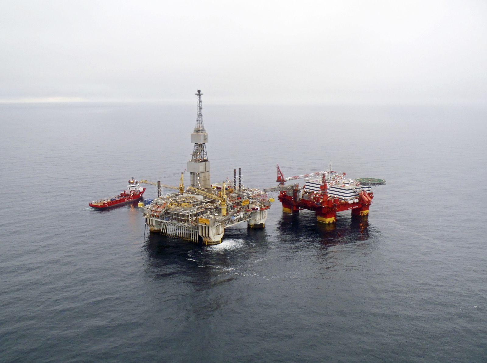 Statoil / Öl / Gas / Plattform / Bohrinsel
