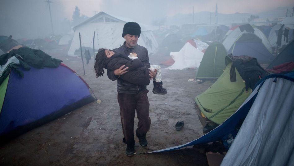 Flüchtlingslager in Idomeni